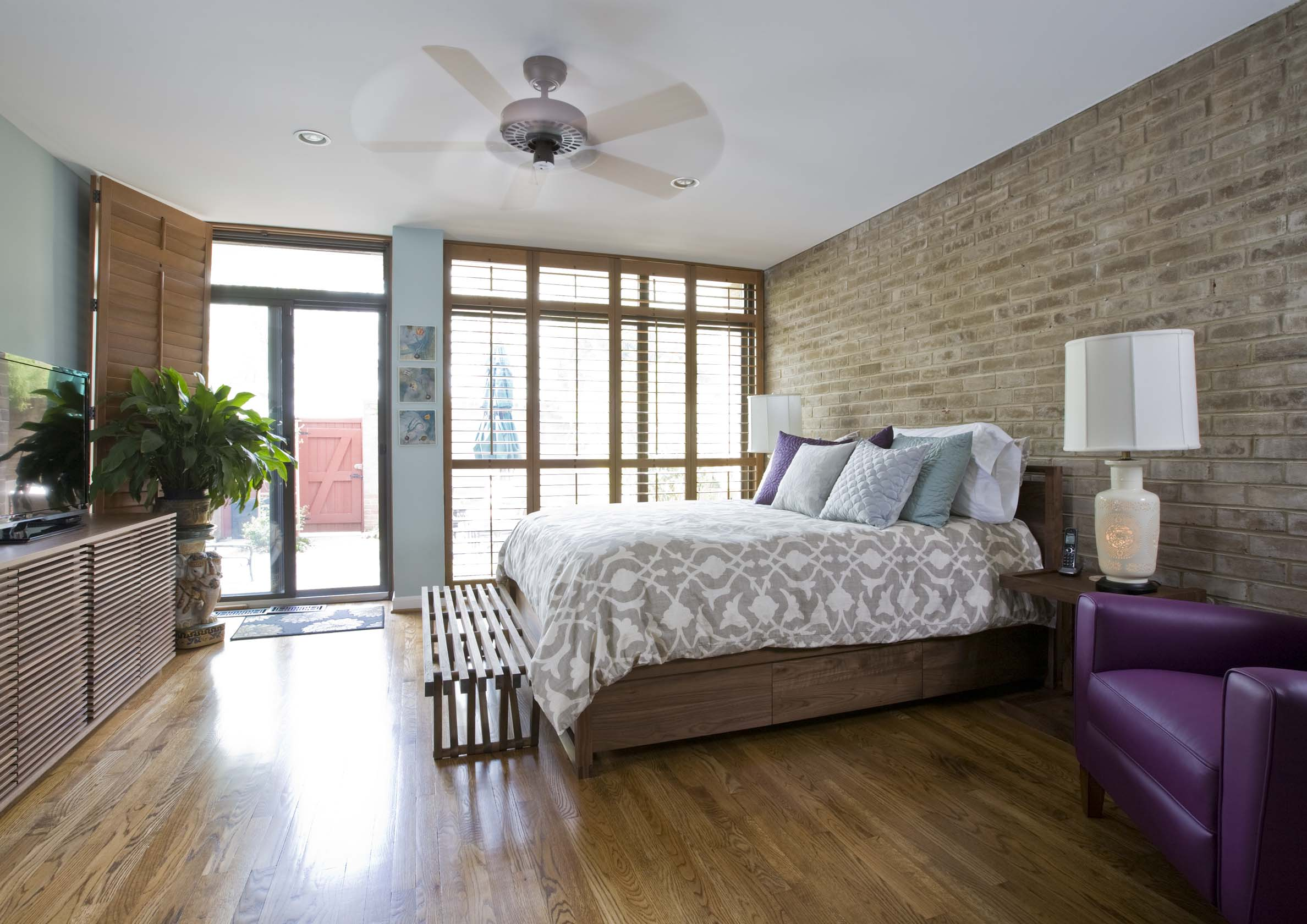 Master Bedroom Of A Remodeled Row House On Sw Waterfront Remodeling An Historic